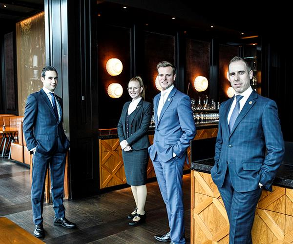 """**MAÎTRE D' OF THE YEAR FINALIST: THE TEAM AT DINNER BY HESTON** <br><br> Singling out one person from the service team at [Heston Blumenthal's Melbourne restaurant](https://www.gourmettraveller.com.au/dining-out/restaurant-reviews/dinner-by-heston-blumenthal-melbourne-review-4400