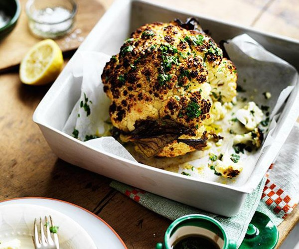 **[Whole roast cauliflower with parsley and anchovy sauce](https://www.gourmettraveller.com.au/recipes/chefs-recipes/whole-roast-cauliflower-with-parsley-and-anchovy-sauce-8049)**