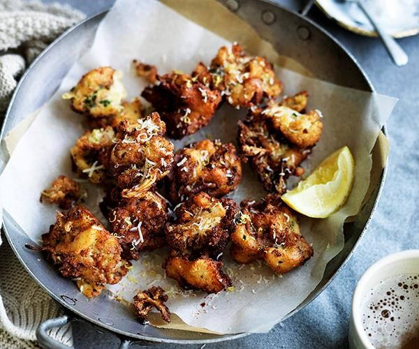 **[Cauliflower, bacon and cheese fritters](https://www.gourmettraveller.com.au/recipes/browse-all/cauliflower-bacon-and-cheese-fritters-12559)**