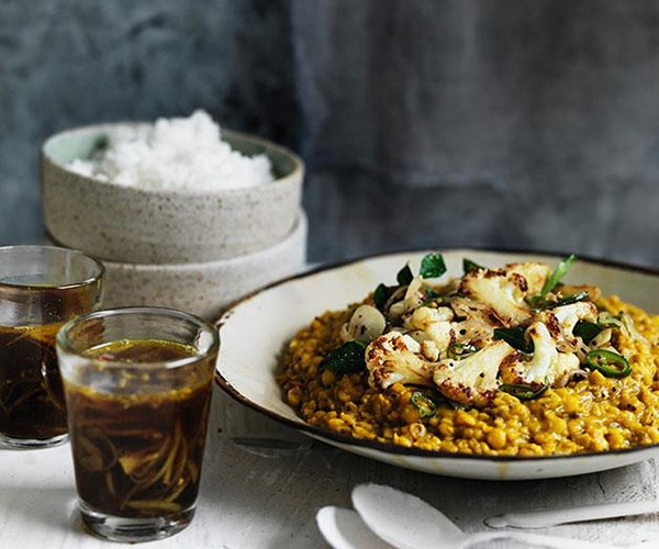 **[Dhal with crisp cauliflower and rasam](https://www.gourmettraveller.com.au/recipes/browse-all/dhal-with-crisp-cauliflower-and-rasam-11753)**