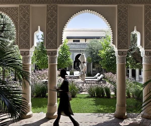 Courtyard at the Villa des Orangers