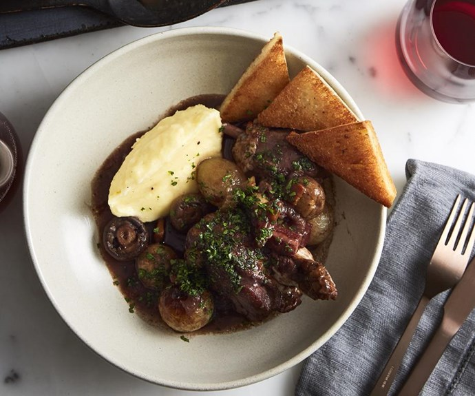 "**[Coq au vin](https://www.gourmettraveller.com.au/recipes/browse-all/masterclass-coq-au-vin-14246|target=""_blank"")**"