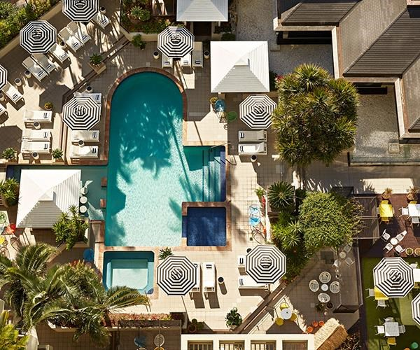 QT Gold Coast's outdoor pool and spa