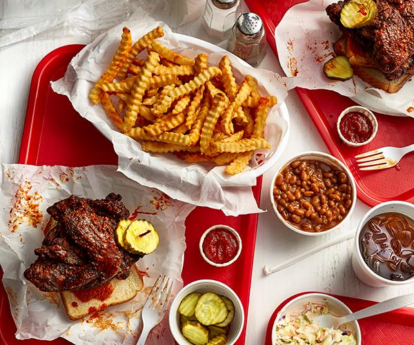 Hot chicken and pickles at Prince's Hot Chicken Shack