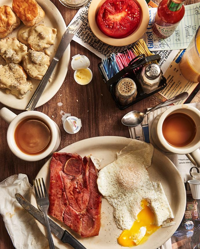 Country ham and eggs with all the fixings at Wendell Smith's