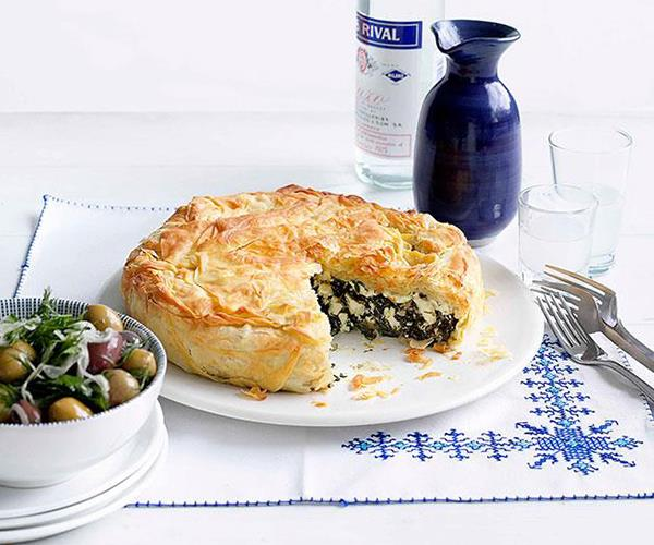 "**[Spanakopita](https://www.gourmettraveller.com.au/recipes/browse-all/spanakopita-14141|target=""_blank"")**"