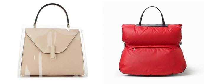 "Valextra inside bag, $3500; Valextra bag coat, $700 both at [Harrolds](https://www.harrolds.com.au/brands/valextra/valextra/|target=""_blank""