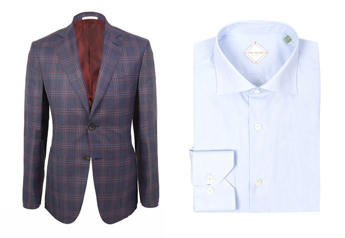 "Pal Zileri jacket, $1950; Pal Zileri shirt, $325 both at [Harrolds](https://www.harrolds.com.au/brands/pal-zileri/pal-zileri/|target=""_blank""|rel=""nofollow"")"
