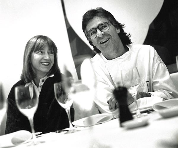 Doyle with his wife Beverley at Cicada, 1996.