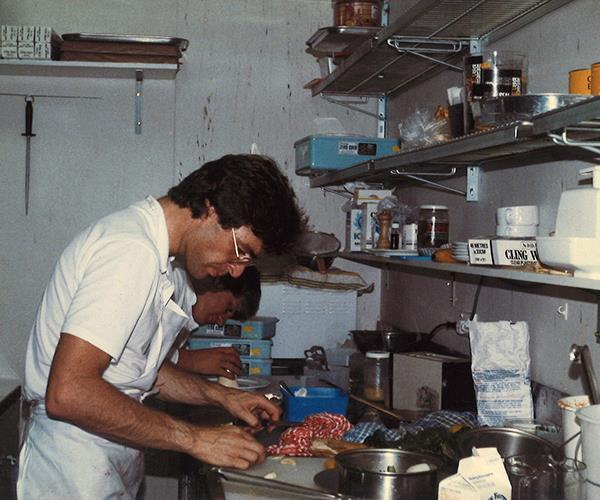 Doyle in the kitchen at Reflections in 1984