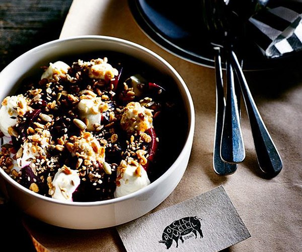"**[Beetroot salad with savoury granola](https://www.gourmettraveller.com.au/recipes/chefs-recipes/beetroot-salad-with-savoury-granola-8113|target=""_blank"")**"