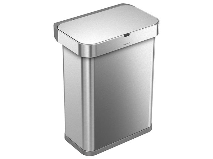 "**Simplehuman Voice And Motion Sensor Bin:** Simplehuman have established themselves as the leaders of 'garbage tech' thanks to their minimalist style bins. Prioritising household hygiene, the brand's models have featured heavy-duty pedals and motion sensor technologies. Now, Simplehuman's latest feat is taking it one step further, allowing users to lift garbage lids with a simple 'open can' voice commandment. <br><br> $413, [johnlewis.com](https://www.johnlewis.com/au/simplehuman-voice-activated-bin-58l-brushed-steel/p3302399|target=""_blank""