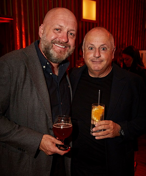 *Stu Gregor of Four Pillars Gin and restaurateur Chris Lucas (photo: Lauren Trompp).*