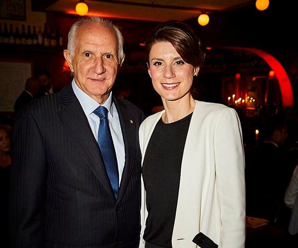 *Vittoria Coffee's Les Schirato AM with Trish Pegorer of Mutti. (photo: Lauren Trompp).*