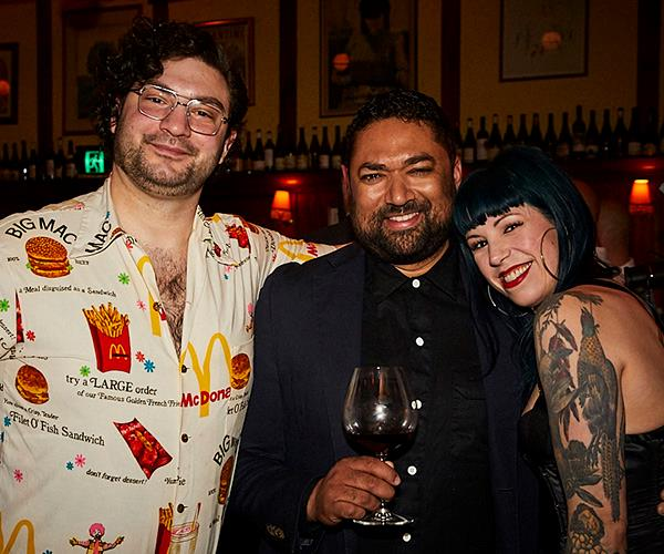 *Continental Bar & Deli's Michael Nicolian, Pasan Wijesena of Jacoby's and Shannon Martinez of Smith & Daughters (photo: Lauren Trompp).*