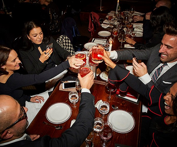 *The team from Harrolds raise a glass (photo: Lauren Trompp).*