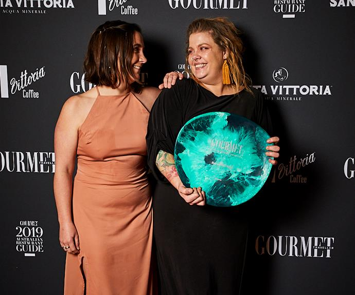 *Keryn Giles and Amy Hamilton of Liberté, winner of Bar of the Year (photo: Lauren Trompp)*