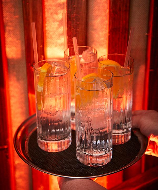 *G&Ts featuring Four Pillars Rare Dry Gin, Santa Vittoria tonic and orange (photo: Lauren Trompp).*
