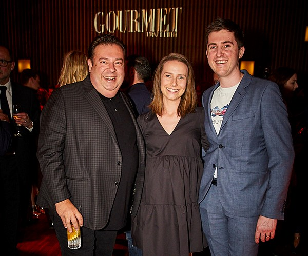*Quay chef Peter Gilmore with Josh and Julie Niland of Saint Peter (photo: Lauren Trompp).*