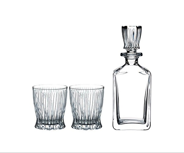"**RIEDEL FIRE WHISKY SET** Sure, Dad's got a formidable whisky collection but does he have the glassware to match? This set of two crystal glasses and a decanter by Riedel features an unusual ridged design inspired by the Art Nouveau movement and designed by George Riedel. We're positive that it'll make every dram taste that much better. <br> *$239.95, [riedel.com](https://www.riedel.com/en-au/shop/riedel-barware/whisly-set-fire-551500102|target=""_blank""