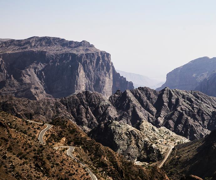 Canyon views at Al Aqr, one of three villages on the Jabal Akhdar walk