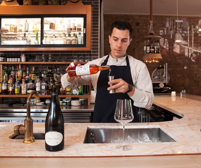 Lûmé's award-winning bartender, Orlando Marzo