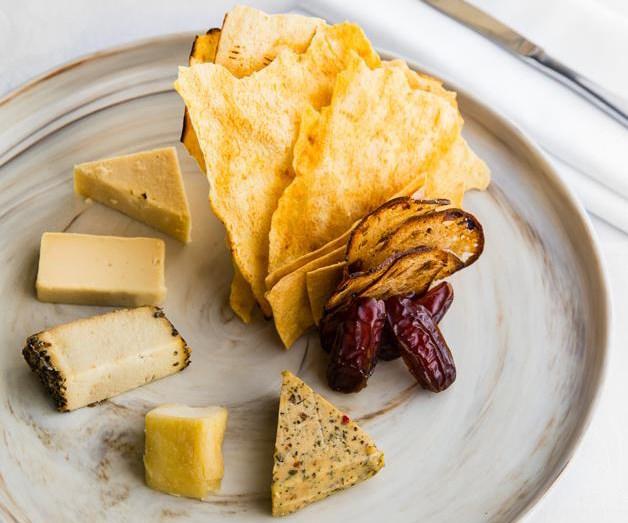 Otto's vegan cheese plate