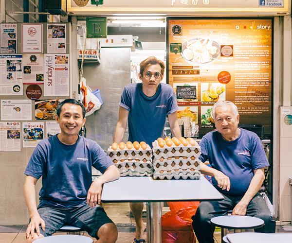 Gwern Khoo, Ben Tham and Kollinn of A Noodle Story