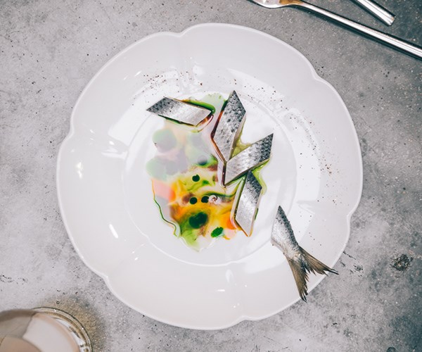 Japanese-style cured mackerel at Nouri