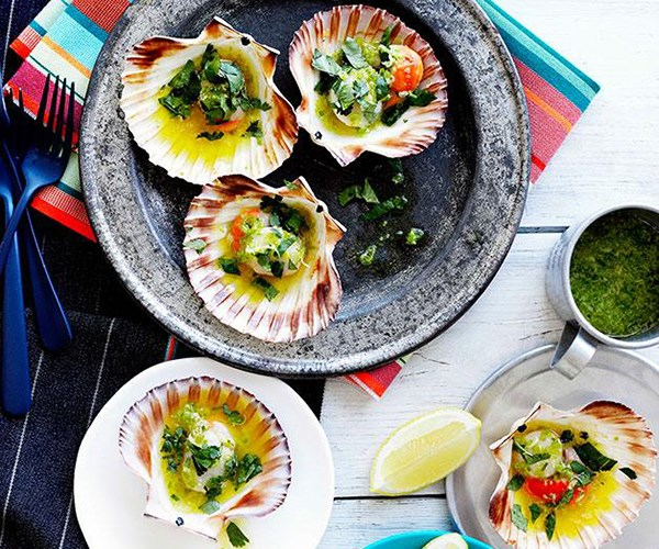 "**[Grilled scallops in the shell](http://www.gourmettraveller.com.au/grilled-scallops-in-the-shell.htm|target=""_blank"")**"