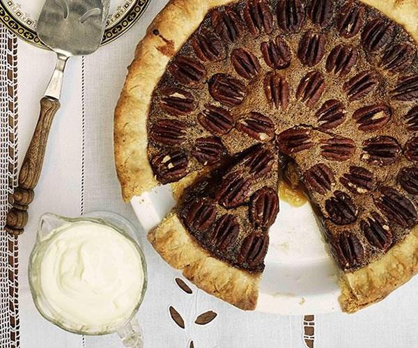 "**[Pecan pie](https://www.gourmettraveller.com.au/recipes/browse-all/pecan-pie-9848|target=""_blank"")**"