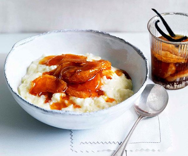 "**[Rice pudding with vanilla and caramelised mandarin compote](https://www.gourmettraveller.com.au/recipes/browse-all/rice-pudding-with-vanilla-and-caramelised-mandarin-compote-11006|target=""_blank"")**"