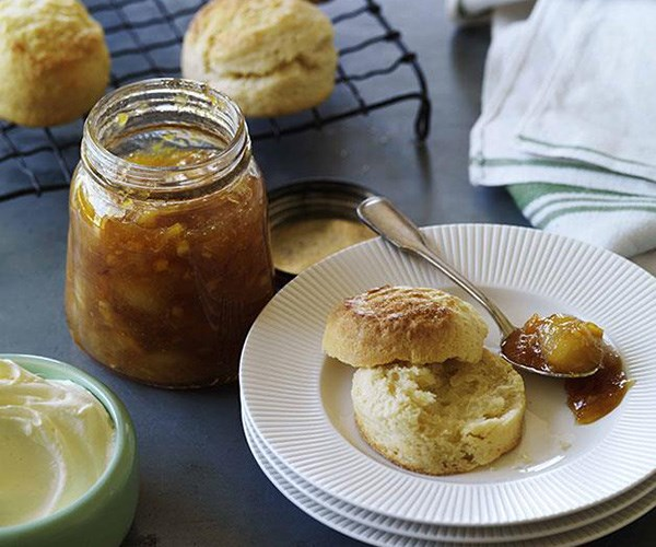 """**[Perfect scones with jam and cream](https://www.gourmettraveller.com.au/recipes/browse-all/perfect-scones-with-jam-and-cream-14118