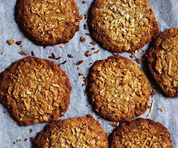 "**[Classic Anzac biscuits](https://www.gourmettraveller.com.au/recipes/browse-all/classic-anzac-biscuits-15810|target=""_blank"")**"