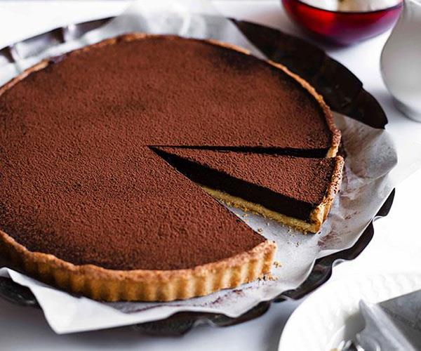 """**[Chocolate tart](https://www.gourmettraveller.com.au/recipes/chefs-recipes/chocolate-tart-9082 target=""""_blank"""")**"""
