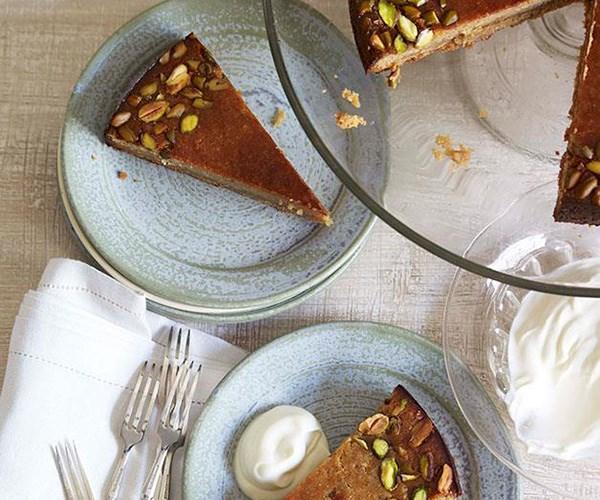 "**[Persian love cake](https://www.gourmettraveller.com.au/recipes/chefs-recipes/persian-love-cake-8867|target=""_blank"")**"