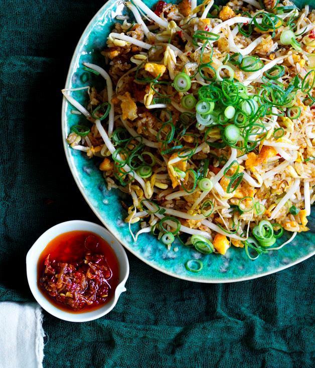 "[**XO fried rice**](https://www.gourmettraveller.com.au/recipes/chefs-recipes/xo-fried-rice-8613 target=""_blank"" rel=""nofollow"")"