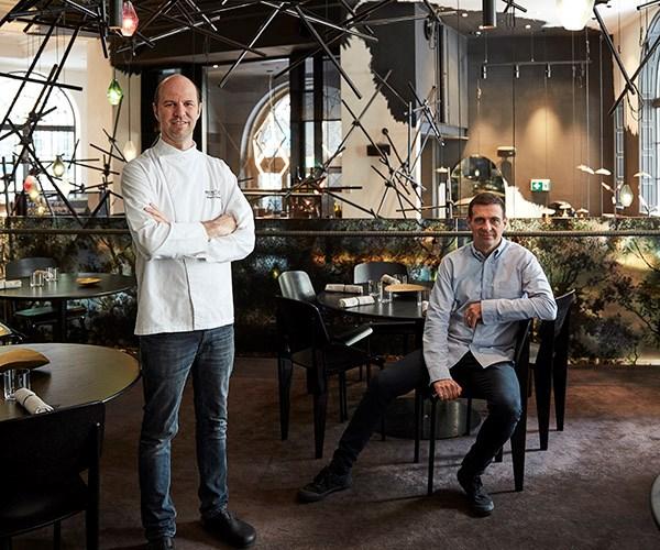Chef Brent Savage (left) and sommelier Nick Hildebrandt