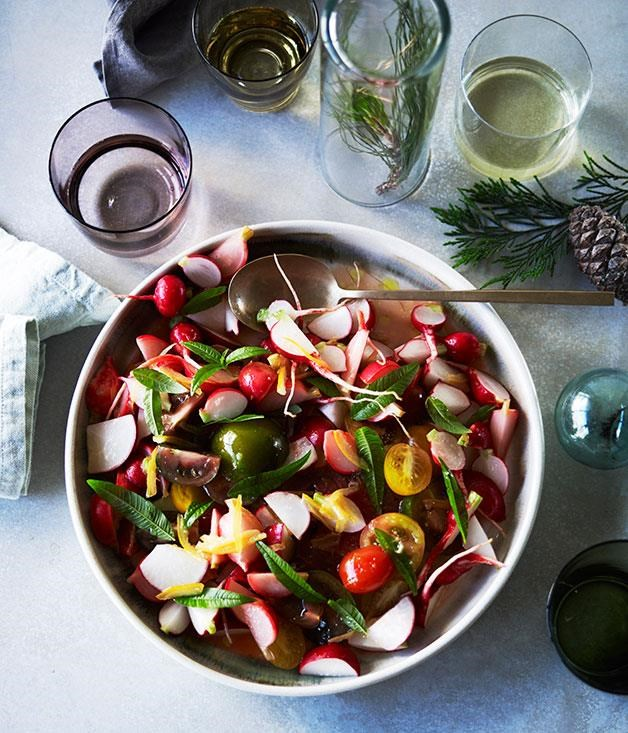 "**[Radish and preserved lemon salad](https://www.gourmettraveller.com.au/recipes/chefs-recipes/radish-and-preserved-lemon-salad-8361|target=""_blank"")**"