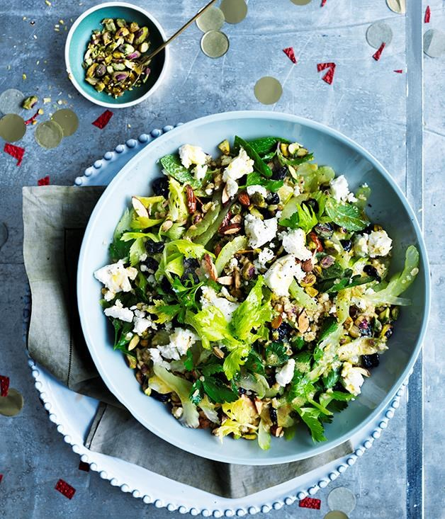 "**[Freekeh, sour cherry and feta salad](https://www.gourmettraveller.com.au/recipes/browse-all/freekeh-sour-cherry-and-feta-salad-12649|target=""_blank"")**"