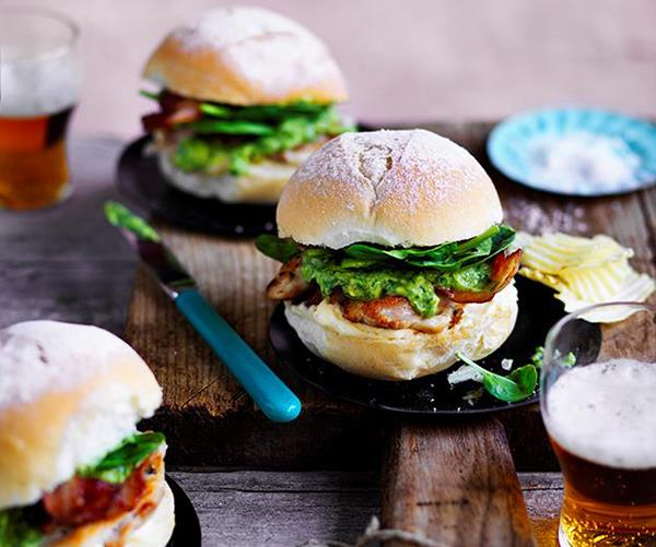 Chicken, bacon and avocado burger (photography: Ben Dearnley)