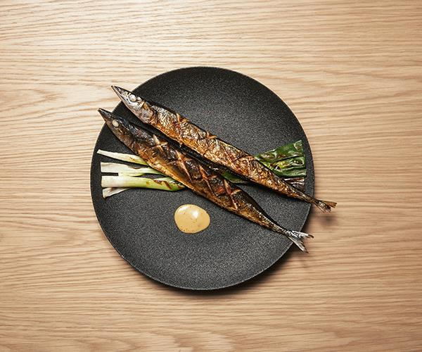 Grilled mackerel pike