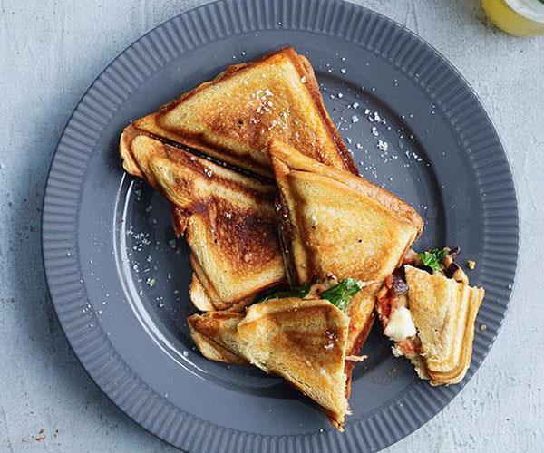 "[**Eggplant parma jaffles**](https://www.gourmettraveller.com.au/recipes/fast-recipes/eggplant-parma-jaffles-13386|target=""_blank"")"