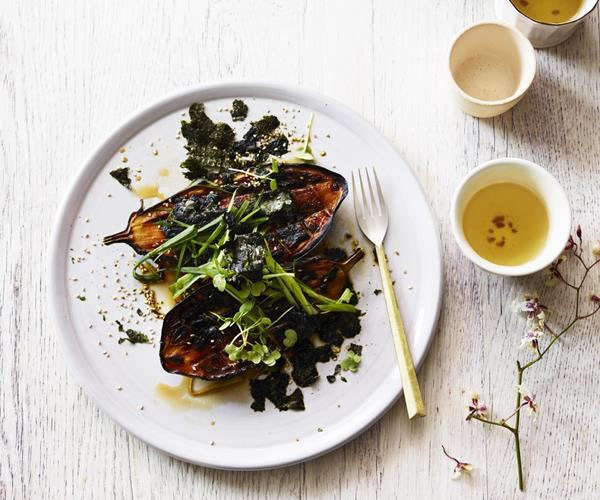 "[**Charred miso eggplant with nori and sesame**](https://www.gourmettraveller.com.au/recipes/browse-all/charred-miso-eggplant-with-nori-and-sesame-15551|target=""_blank"")"