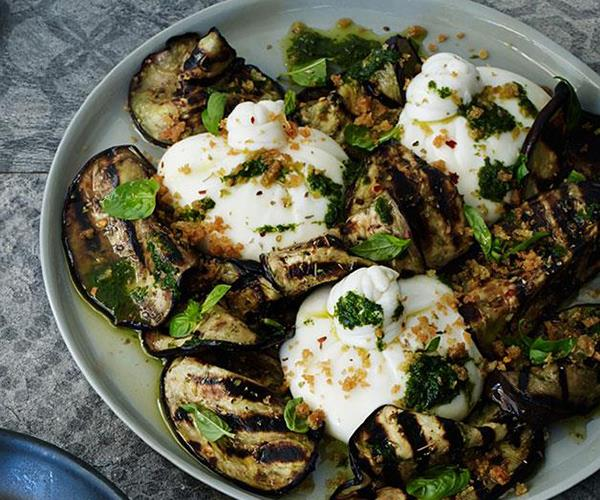 "[**Burrata with char-grilled eggplant**](https://www.gourmettraveller.com.au/recipes/chefs-recipes/burrata-with-char-grilled-eggplant-8229|target=""_blank"")"