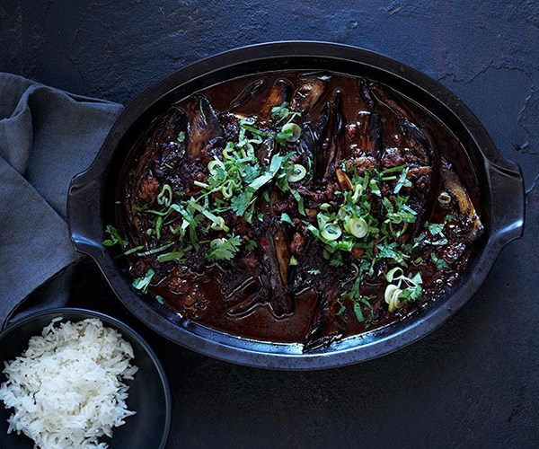 "[**Sichuan braised eggplant**](https://www.gourmettraveller.com.au/recipes/browse-all/sichuan-braised-eggplant-11947|target=""_blank"")"