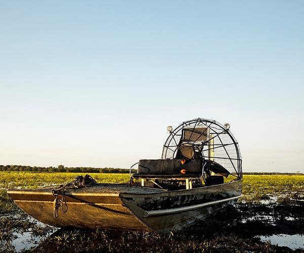 One of the airboats