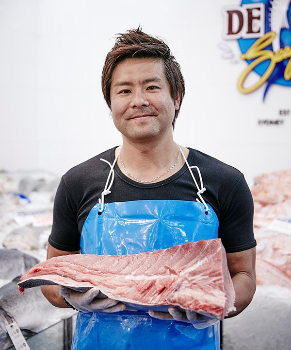 Fishmonger Narito Ishii (photography: Will Horner/Sydney Fish Market)