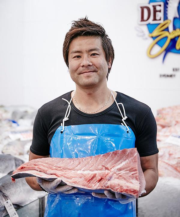 Fishmonger Narito Ishii (photography: Will Horner/Sydney Fish Market)