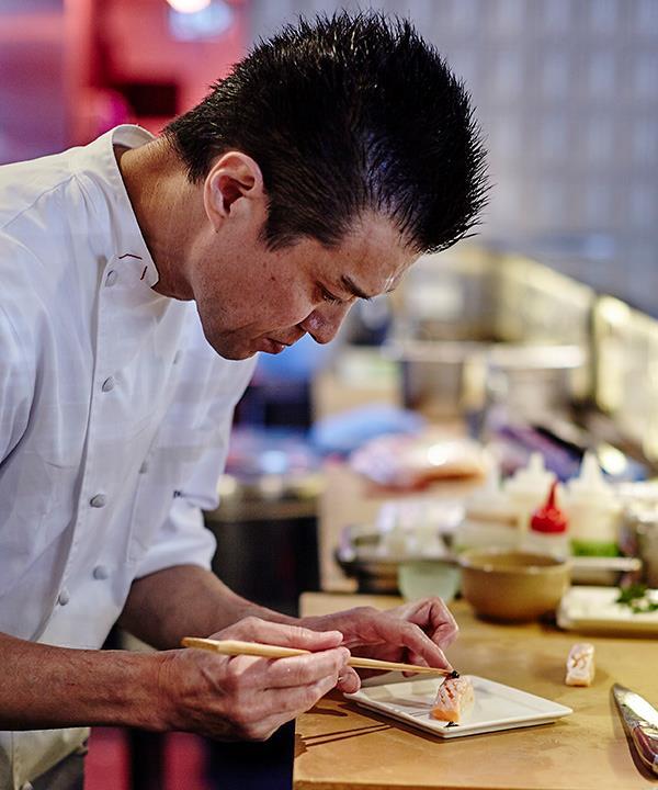 Chef Shinji Matsui at Sashimi Shinsengumi (photography: Will Horner)